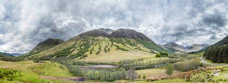 highlander: UKs highest mountain Ben Nevis seen from south-west