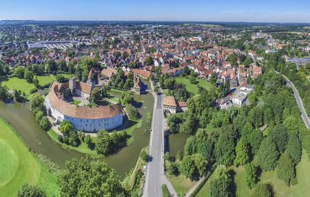 Aerial view of the historic city of Steinfurt