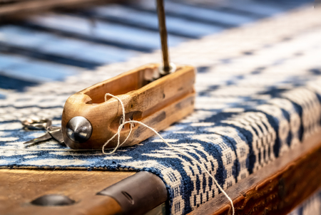 Weaving background with traditional tools Stock fotó