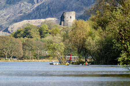 Llanberis  Wales - May 02 2018 : Kayak racing on the lake