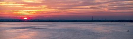 Hull harbor at sunset, England - United Kingdom