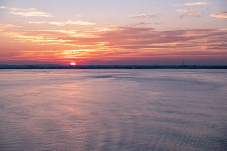 Hull harbor at sunset, England - United Kingdom Stock Photo