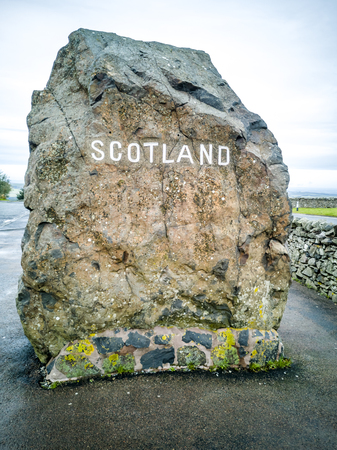 The Border between England and Scotland at Carter Bar - United Kingdom