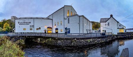 Isle of Skye / Scotland - October 10 2018: Talisker distillery is an Island single malt Scotch whisky distillery based in Carbost, Scotland on the Isle of Skye Redakční