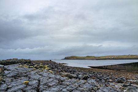 The coastline of north west Skye by Kilmuir - Scotland, United Kingdom Stock Photo