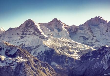 Mounts Eiger, Moench and Jungfrau in the Jungfrau region