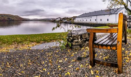 Isle of Skye / Scotland - October 10 2018: Talisker distillery is an Island single malt Scotch whisky distillery based in Carbost, Scotland on the Isle of Skye