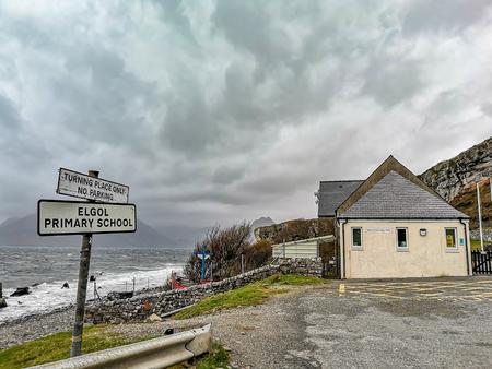 Elgol, Isle of Skye  Scotland : The Elgol primary school is located close to the beach on the Isle of Skye - Scotland