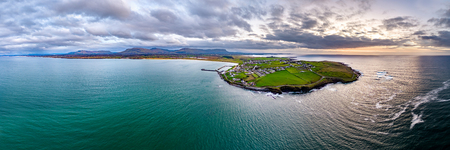 Aerial view of Mullaghmore Head - Signature point of the Wild Atlantic Way, County Sligo, Ireland Stock Photo