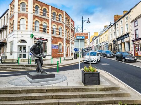 Ballyshannon / Ireland - February 20 2019 : Ballyshannon is located at the southern end of the county Donegal and birth place of Rory Gallagher