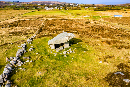 The Kilclooney Dolmen is neolithic monument dating back to 4000 to 3000 BC between Ardara and Portnoo in County Donegal, Ireland