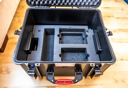 Generic hardcase with foam inlay for technical equipement like cameras and drones. Imagens