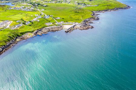 Aerial view of Portnoo in County Donegal, Ireland