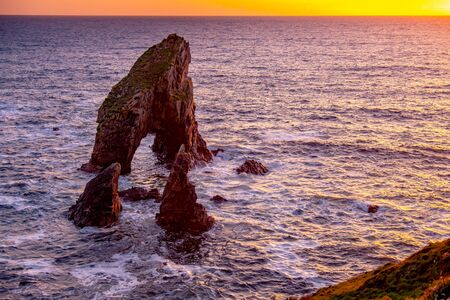 Crohy Head Sea Arch Breeches during sunset - County Donegal, Ireland