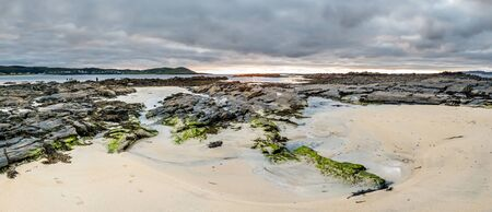 Narin Strand is a beautiful large blue flag beach in Portnoo, County Donegal - Ireland 写真素材