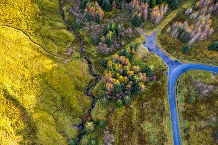 Aerial view from Glengesh Pass by Ardara, Donegal, Ireland