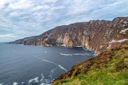 Slieve League Cliffs are among the highest sea cliffs in Europe rising 1972 feet above the Atlantic Ocean - County Donegal, Ireland