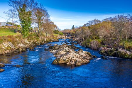 The River Glen and waterfalls by Carrick in County Donegal - Ireland