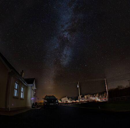 The Milky Way above County Donegal - Ireland Stock Photo