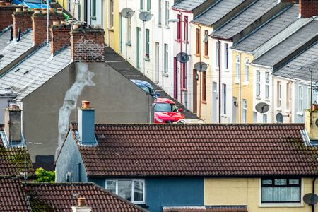 The bogside is a neighbourhood outside the citywalls of Derry, Londonderry in Northern Ireland
