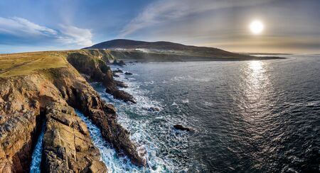 Dramatic coastal landscape at Bloody Foreland, Donegal, Ireland.