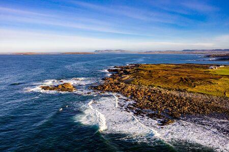 The coastline between Meenlaragh and Brinlack : Tra na gCloch in County Donegal - Ireland Stock fotó