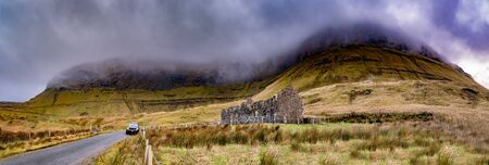The derelict old school at Gleniff Horseshoe in County Leitrim - Ireland