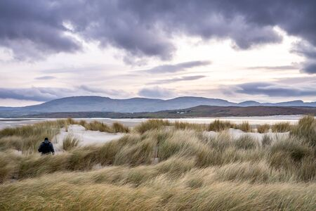 Dunes at the Sheskinmore Nature Reserve between Ardara and Portnoo in Donegal - Ireland