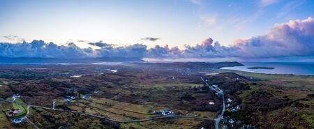 Aerial view of the Clooney, Narin and Portnoo, County Donegal . Ireland