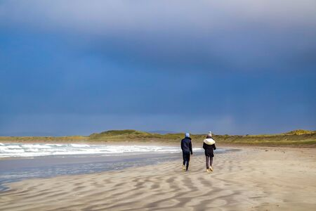 Narin Strand is a beautiful large blue flag beach in Portnoo, County Donegal - Ireland Reklamní fotografie