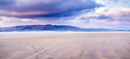 Narin Strand is a beautiful large blue flag beach in Portnoo, County Donegal in Ireland