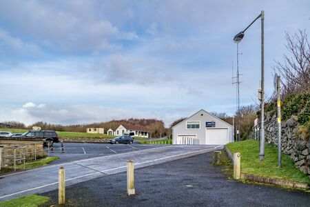Buncrana  Ireland - January 18 2020 - The life boat station is located north of the town