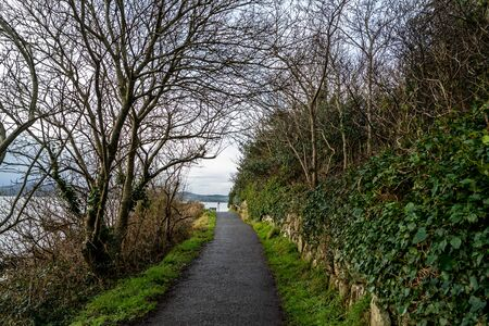 Coastal path between Buncrana in County Donegal and the life boat Station Reklamní fotografie