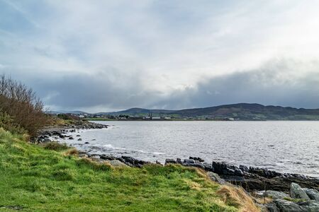 Buncrana in COunty Donegal seen from the life boat Station