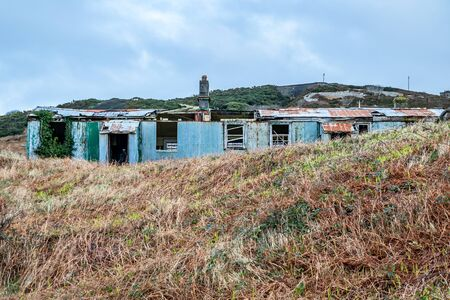 Abandoned buildings at Fort Dunree, Inishowen Peninsula - County Donegal, Ireland