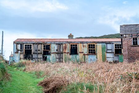 Abandoned buildings at Fort Dunree, Inishowen Peninsula - County Donegal, Ireland. Reklamní fotografie