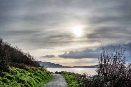 Coastal path between Buncrana in County Donegal and the life boat Station. Reklamní fotografie
