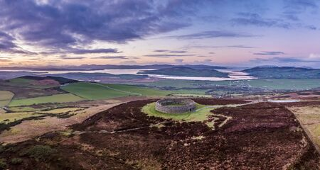 Grianan of Aileach ring fort, Donegal - Ireland. 스톡 콘텐츠