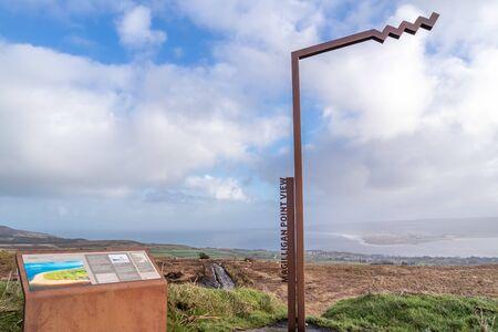 Greencastle  Ireland - February 04 2020 : Magilligan Point in Northern Ireland seen from The Warren in Donegal - Ireland