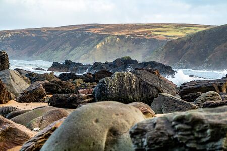 Kinnagoe bay in County Donegal, Inishowen has an extraordinary selection of colourful stones- Ireland