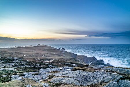 Rugged landscape at Malin Head in County Donegal - Ireland.