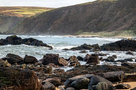 Kinnagoe bay in County Donegal, Inishowen has an extraordinary selection of colourful stones- Ireland.