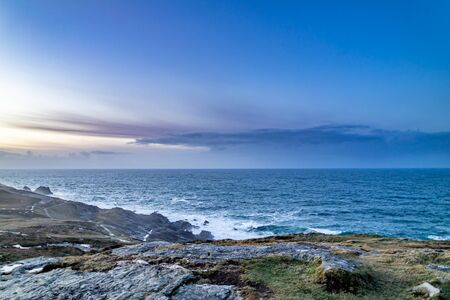 Rugged landscape at Malin Head in County Donegal - Ireland