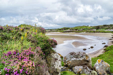 Carn beach at the Sheskinmore Nature Reserve between Ardara and Portnoo in Donegal - Ireland Stockfoto