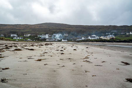 Narin Strand is a beautiful large blue flag beach in Portnoo, County Donegal - Ireland Фото со стока