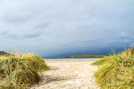 Narin Strand is a beautiful large blue flag beach in Portnoo, County Donegal - Ireland Imagens