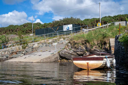 Rowing boat at the pier in Bruckless in County Donegal - Ireland.