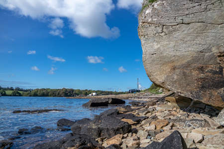 Stones close to the pier in Bruckless in County Donegal - Ireland.