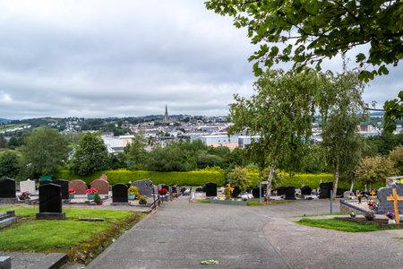 Letterkenny , Ireland - August 12 2020 : The cemetry is overlooking the city Redakční