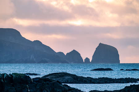 The rocks at the coastline between Rosbeg and Glencolumbkille in County Donegal - Ireland.